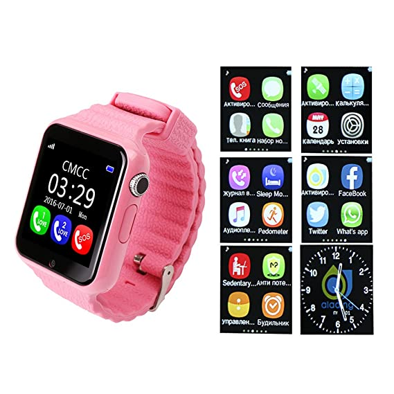Smartwatch Niños Reloj Inteligente Mujer y Hombre Demiawaking Inteligente Pulsera para Iphone y Android con Cámara Seguridad Anti-Lost GPS Tracker Kids SOS ...