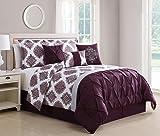 KingLinen 11 Piece Daria Wine/Gray Reversible Bed