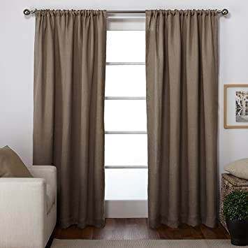 Curtains Ideas 54 curtain panels : Amazon.com: Exclusive Home Burlap Rod Pocket Curtain Panels, 54