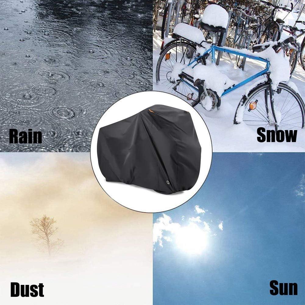 Cubierta Bicicleta con Tejido Premium contra Lluvia Sol Polvo,con Agujero De Bloqueo Proteger,para Bicicletas De Monta/ña Y Carretera,S Funda De Bicicleta,Funda Bicicleta Exterior Impermeable