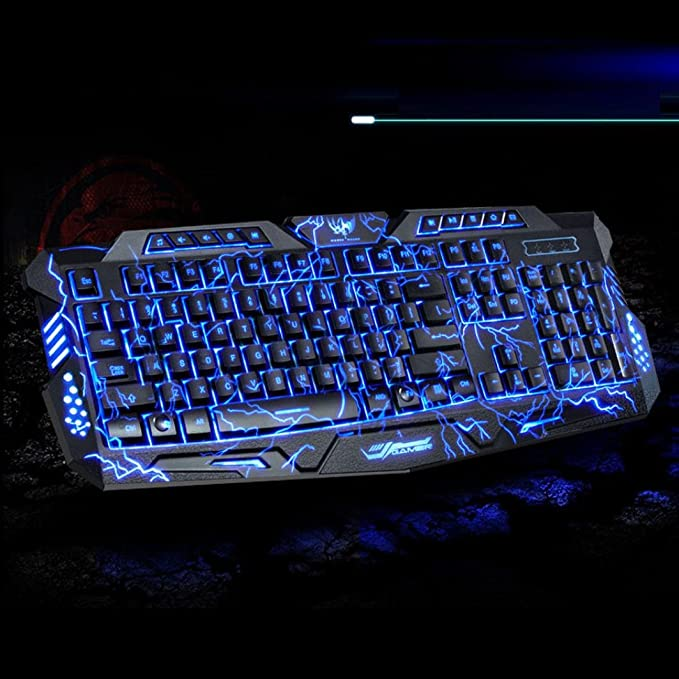 Black Blue Shaft Independent Performance optimization Keys for Easier Operation Happyshopping M200 Multimedia USB 114 Key Wired 3 Color Backlit 82 Keys Laptop Computer Gaming Mechanical Keyboard