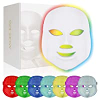 Face Led Mask -Angel Kiss 7 Color Blue Red Light Therapy Photon Mask Facial Skin...