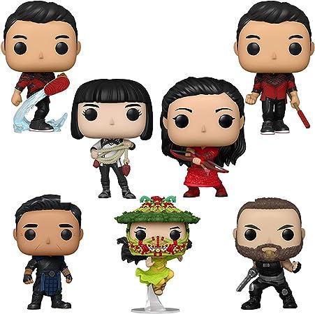 Funko Pop! Shang-Chi and The 10 Rings Set of 7: Shang-Chi (Kick), Shang-Chi, Katy, Xialing, Wenwu, Jiang Li and Razor Fist