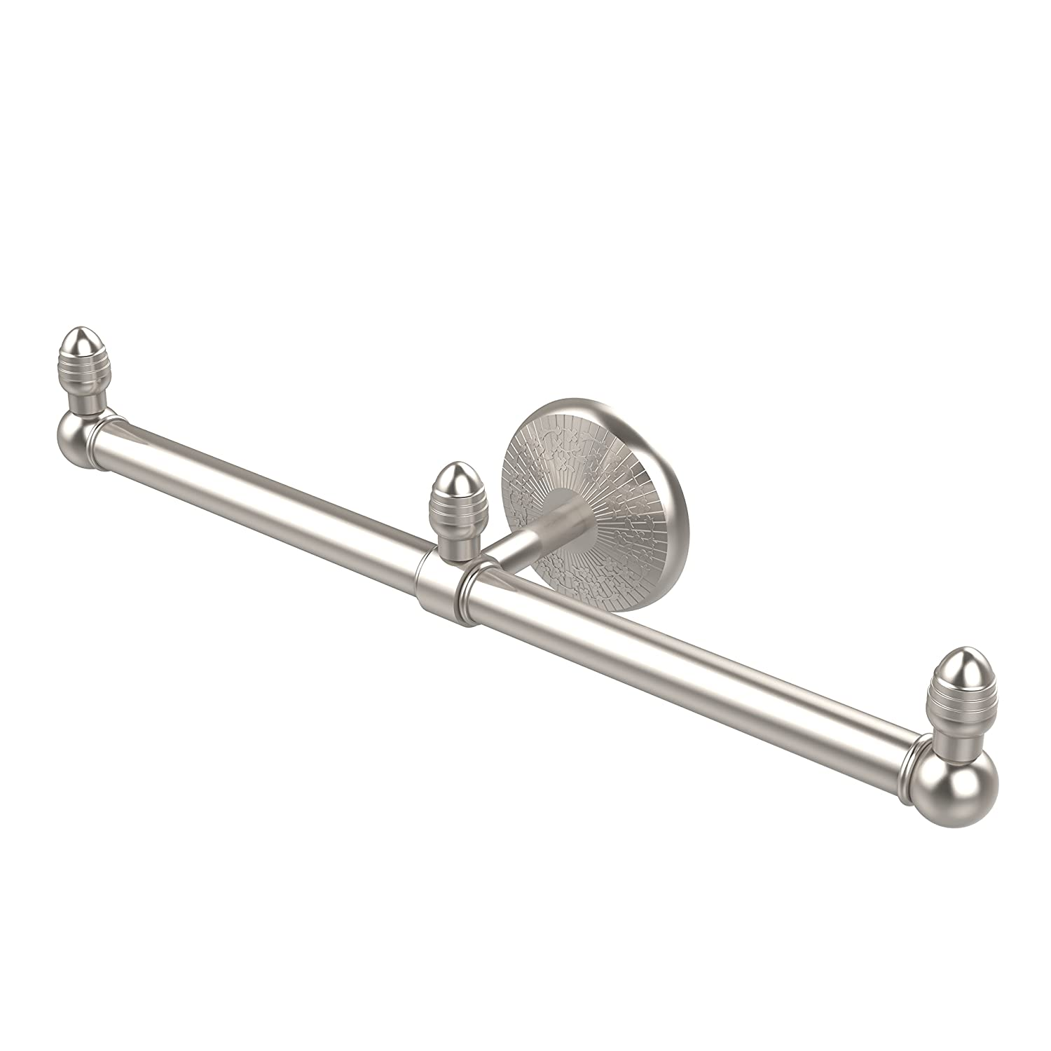 Allied Brass BPMC-HTB-2-SN Monte Carlo Collection 2 Arm Guest Towel Holder Satin Nickel