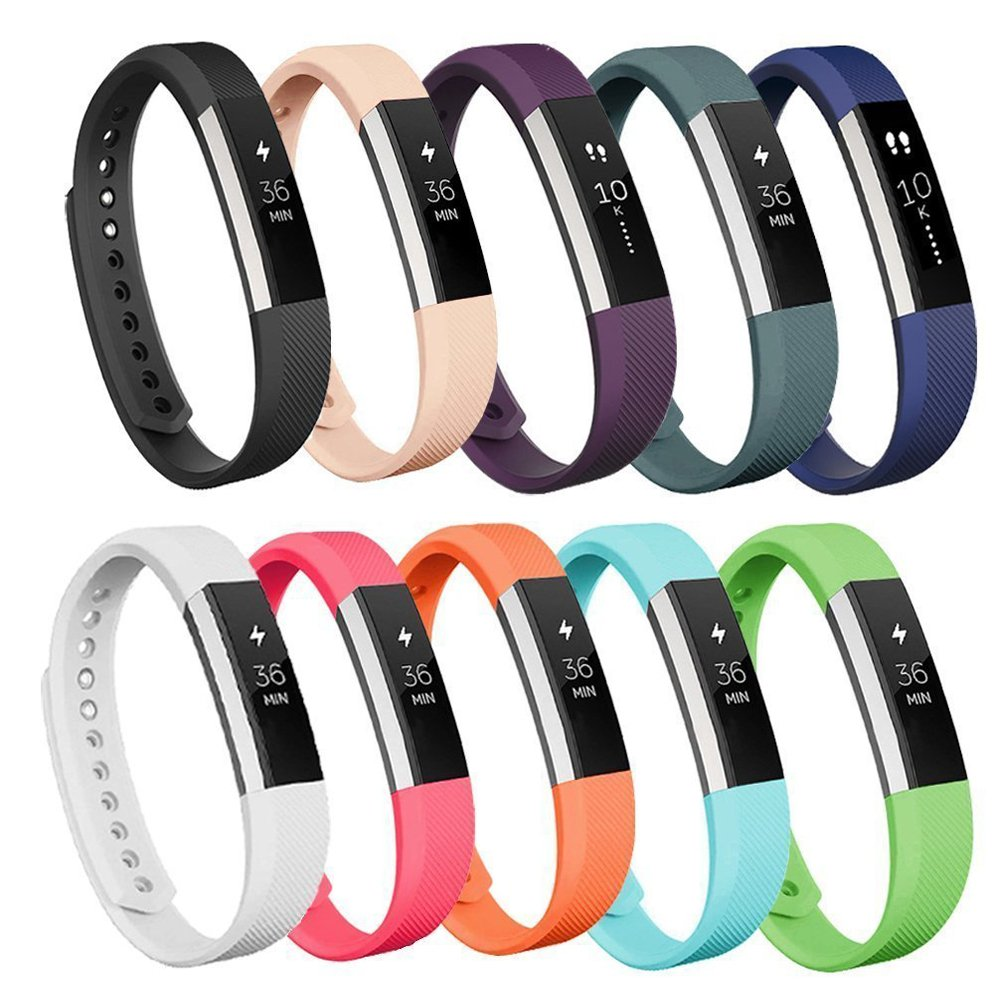 AK Bands Compatible for Fitbit Alta/Fitbit Alta HR (10 PACK), Replacement