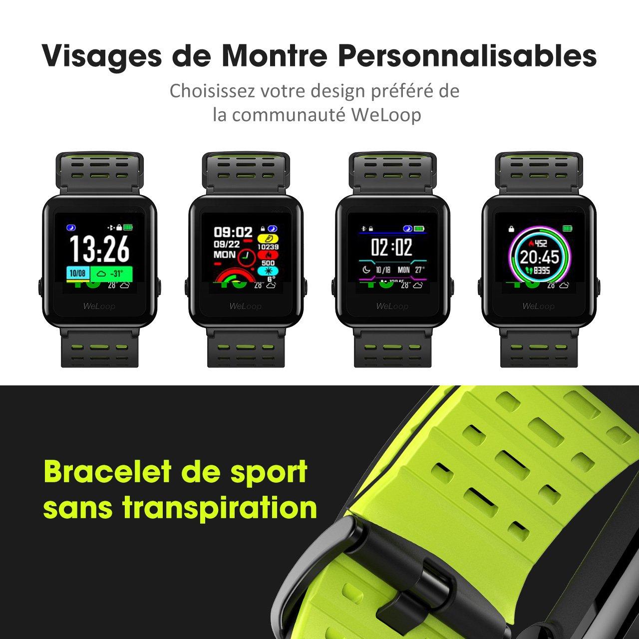 omorc - Reloj inteligente, impermeable hasta 5 ATM, con GPS, cronómetro, pulsómetro, para Fitness, Rastreador, Bluetooth 4.0, con fondos de reloj ...