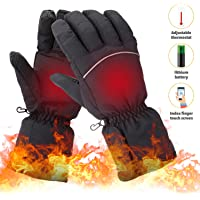 Lixada Electric Heated Rechargeable Winter Touchscreen Thermal Gloves