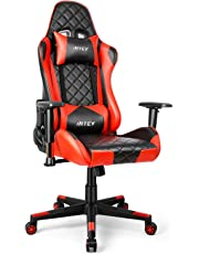 INTEY Gaming Chair Ergonomic Swivel Heavy Duty 160° Reclining High Back with Lumbar Cushion, Office PC Desk Chair with Adjustable Armrest