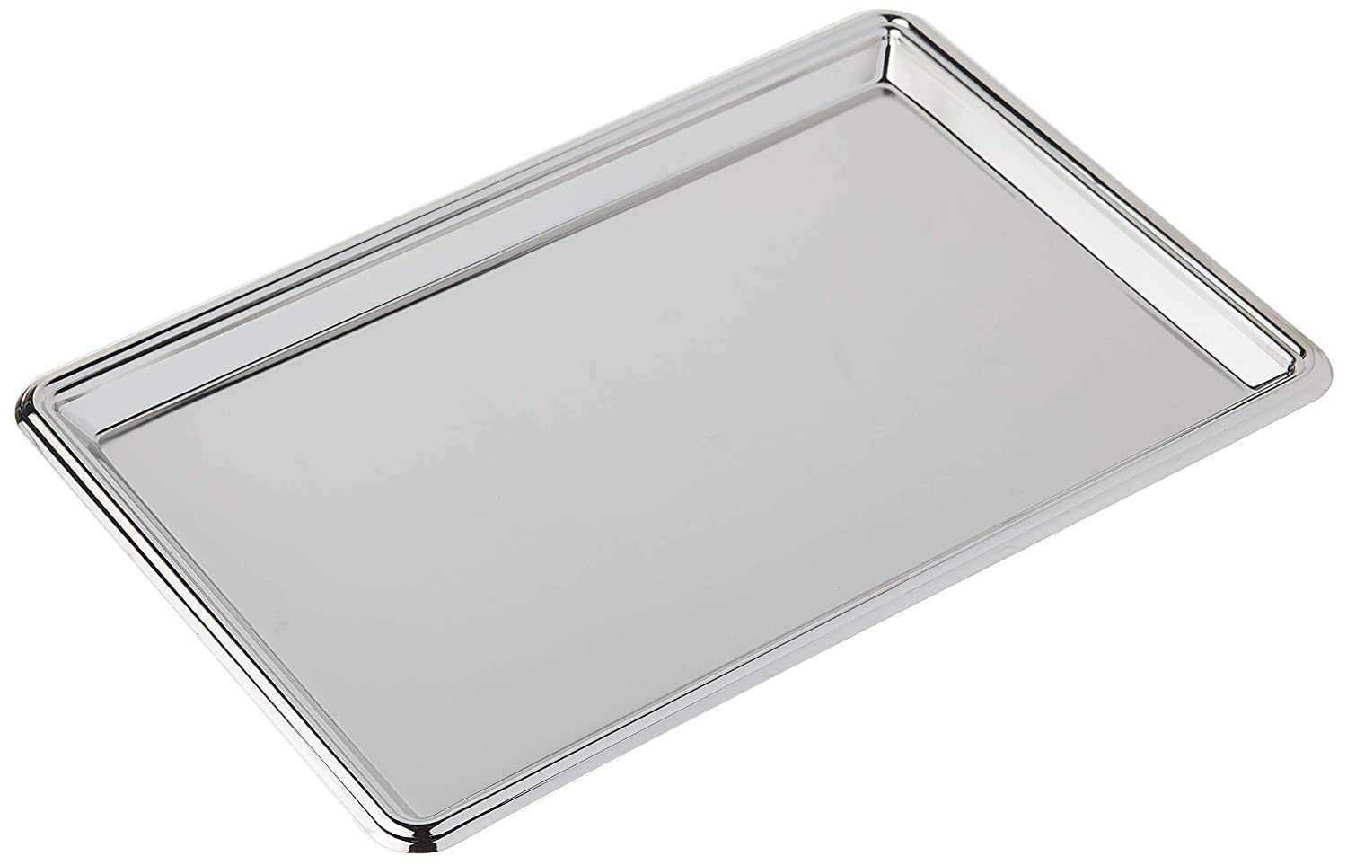 Elegance Silver 82533 Rectangular Nickel Plated Serving Tray, 8