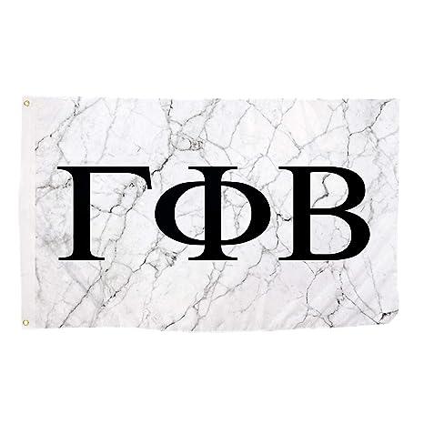 gamma phi beta light marble sorority letter flag banner 3 x 5 sign decor gamma phi