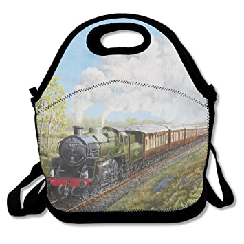 9397de689b63 Steam Train And Railway Lunch Bag Lunch Tote Lunch Box Handbag For ...