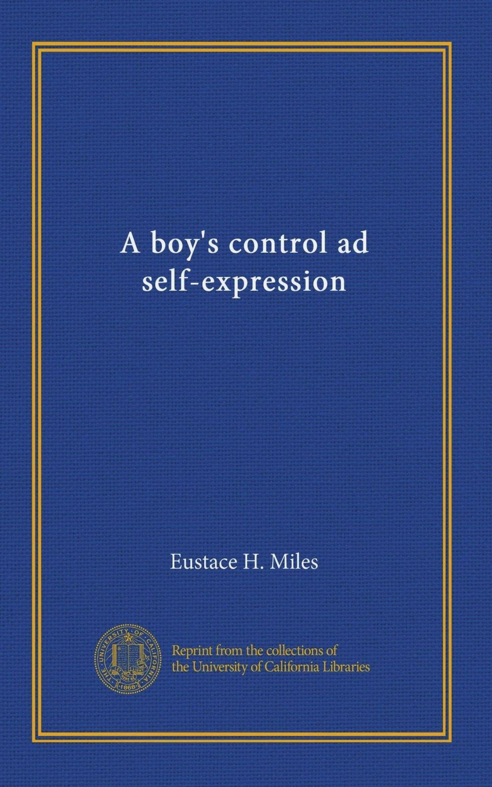 Download A boy's control ad self-expression ebook