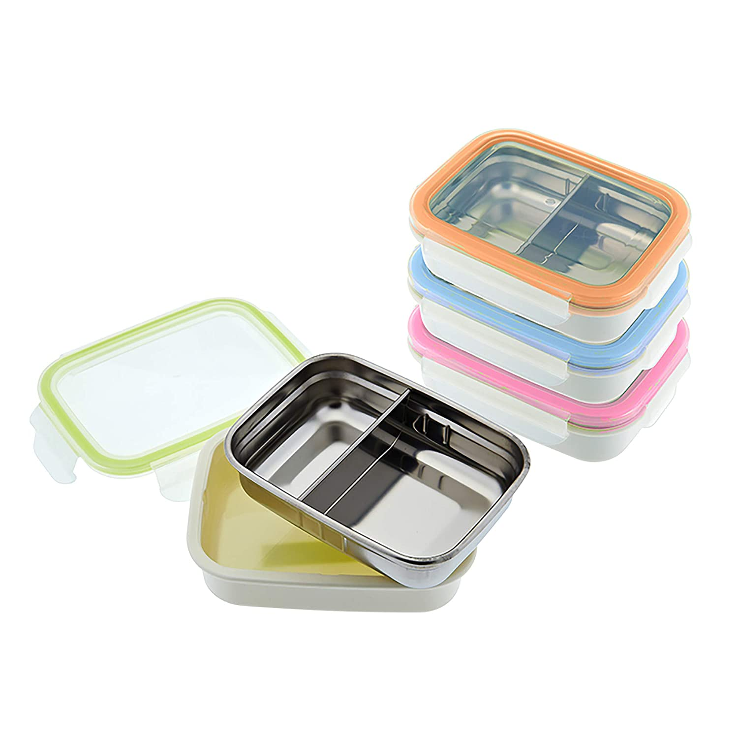 Innobaby Keepin Fresh Stainless Divided Bento Verde