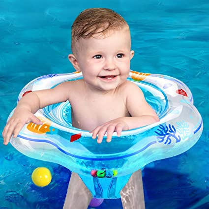 12c70fb7a0 Baby Swimming Pool Floats Ring with Double Airbags - Infant Swim Floats  Safety Seat Boat Trainer