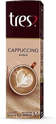 Cápsula de Cappuccino Avelã Três, Compatível com Três, Contém 10 Cápsulas