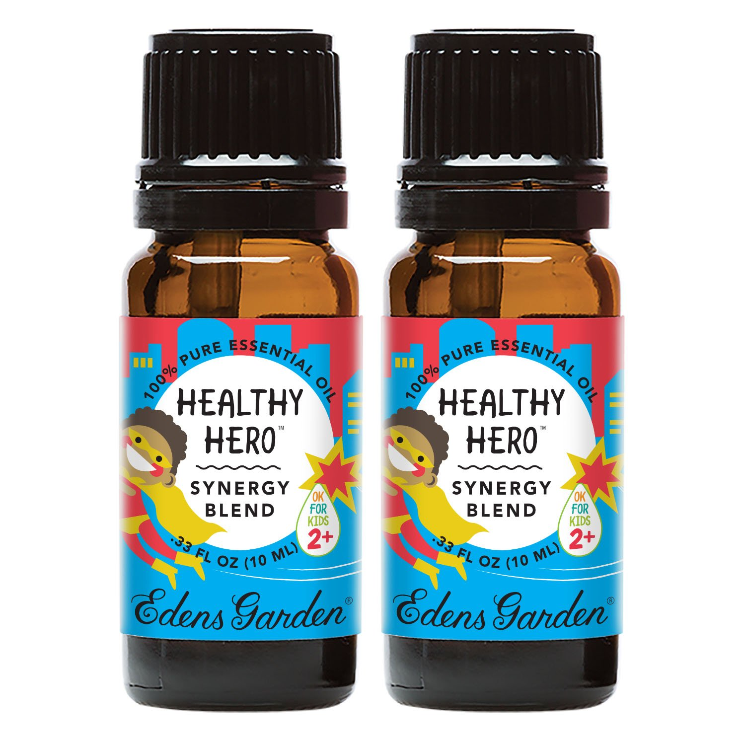 Edens Garden Healthy Hero Value Pack Synergy Blend 100% Pure Undiluted Therapeutic Grade GC/MS Certified Essential Oil