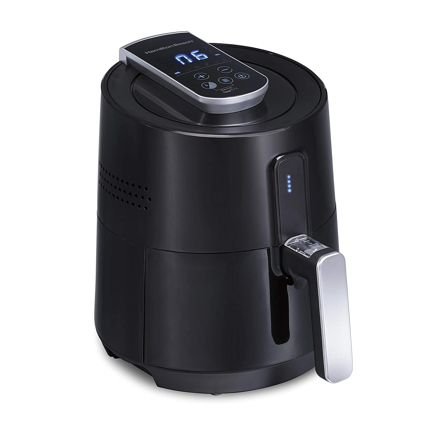 Hamilton Beach Air Fryer Oven Digital and Programmable, Easy to Clean Nonstick, 2.5 Liters/ 2.6 Quarts (35050), Black