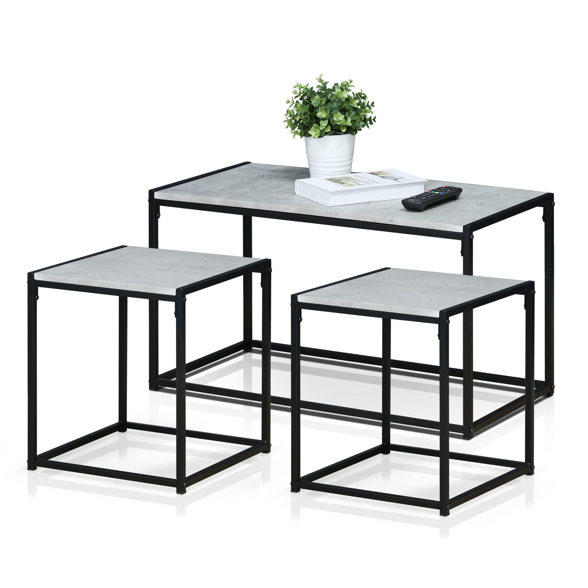 Furinno FM-TS31SW Modern Lifestyle Living Room Set, Stone White by Furinno