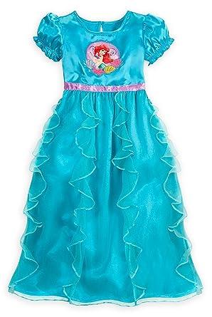 Disney Store Girls Ruffled Princess Ariel Nightgown - Little Mermaid  Sleepwear (Size XS 4) a814d1b78