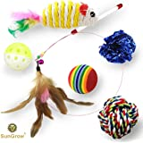 6 Pack Cat Toys -- Increases Stimulation - Keeps pet Mentally & Physically Fit - Relieves boredom & stress - Prevents unwanted behavior - Gives Hours of Fun