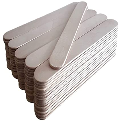 50 palillos de paleta de madera Jumbo Natural Craft 150 mm x ...