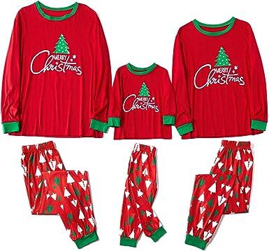 Yaffi - Pijama a juego con diseño de árbol de Navidad impreso ...