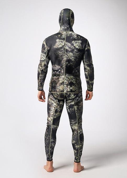 Amazon.com: isafish camuflaje pesca submarina trajes de ...