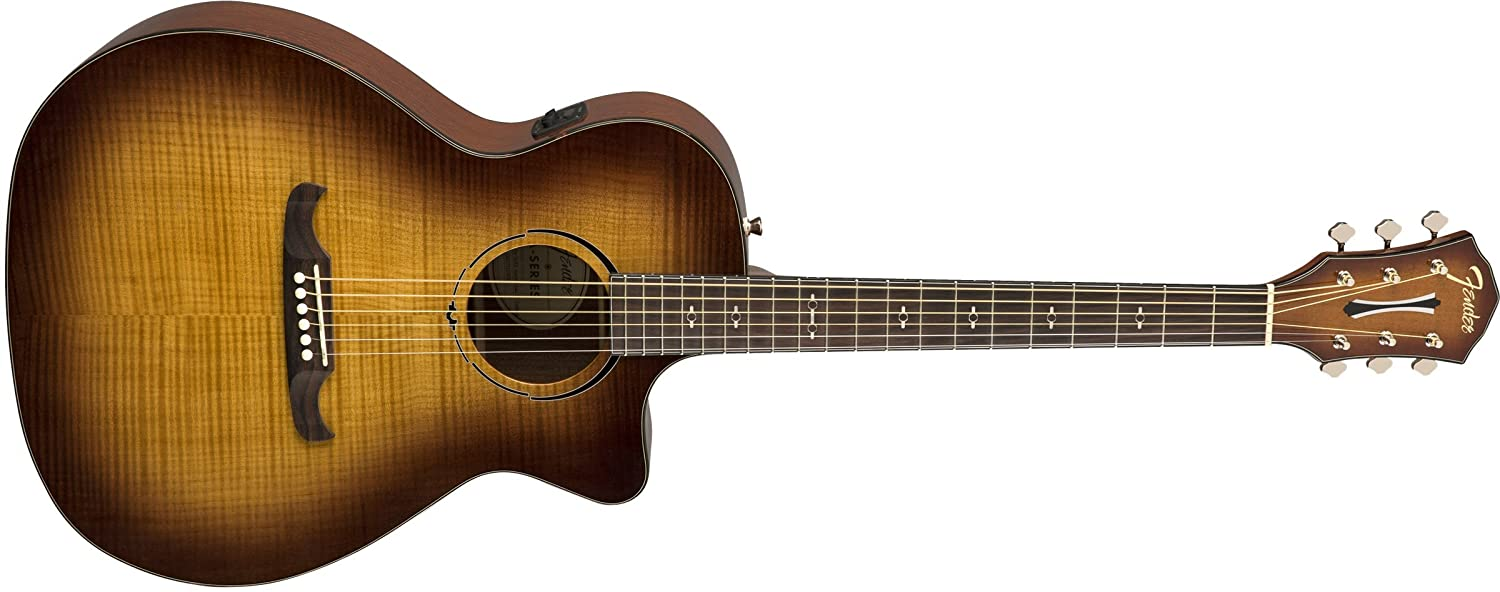 Fender FA-345CE Auditorium Body Style Acoustic Guitar - Roswood Fingerboard - Iced Tea Burst