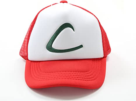 Pokemon Ash Hat Ketchum Mesh Cap Cosplay Costume for Halloween by ...