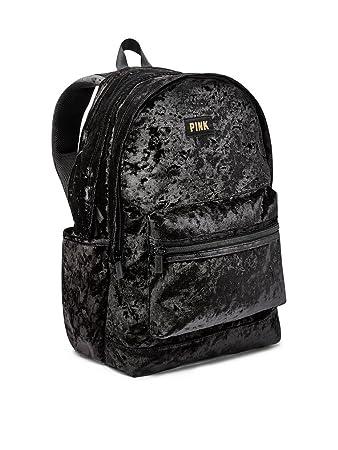 c5365e13ae431 Victoria's Secret Pink Campus Backpack Black Velvet