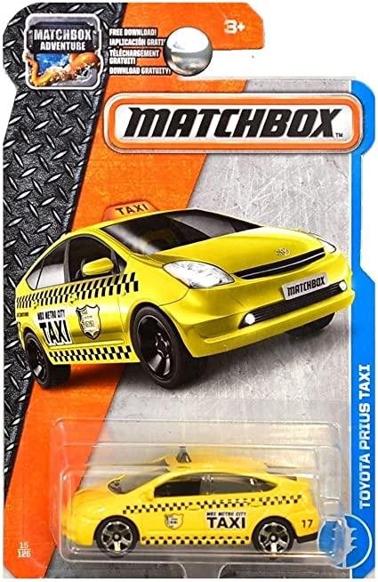 Toyota Prius Taxi MBX Adventure City Die Cast 2016 Matchbox