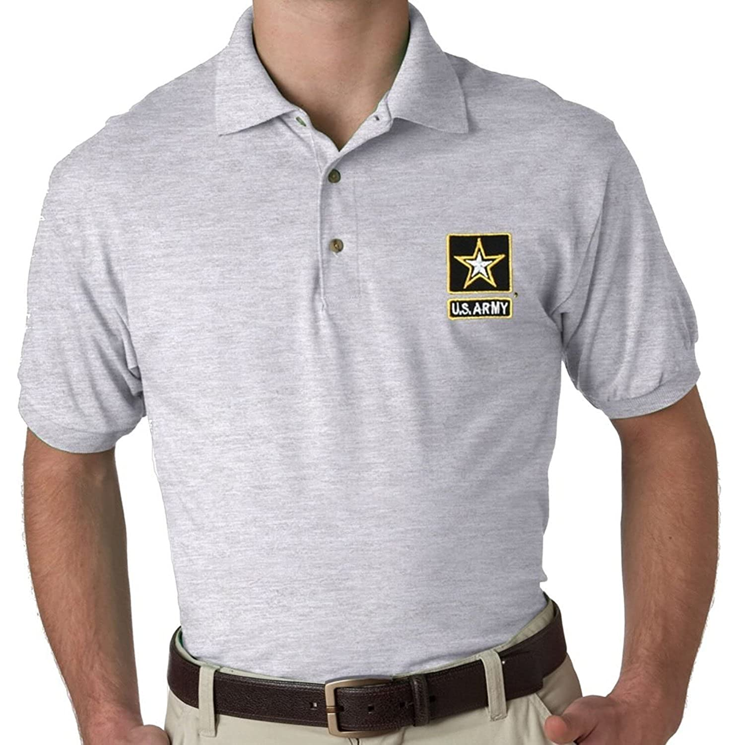 Us Army Embroidered Polo Shirt At Amazon Mens Clothing Store