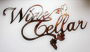 "Wine Cellar Metal Wall Sign 16 1/2"" x 9 1/2"""