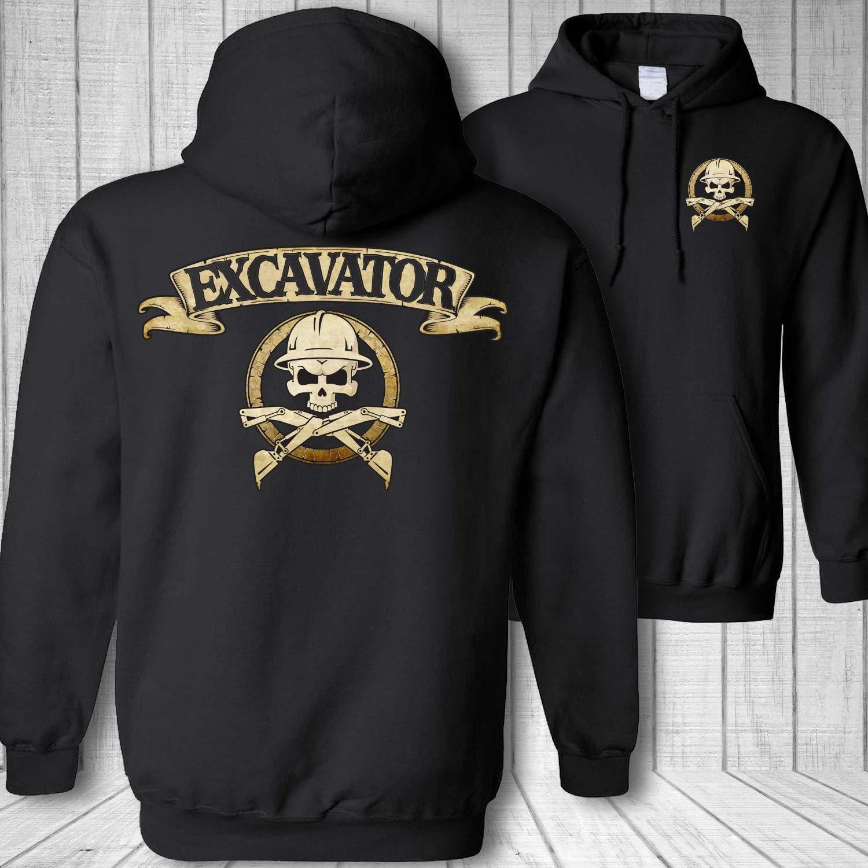 Excavator Skull and Crossbones Hooded Sweatshirt