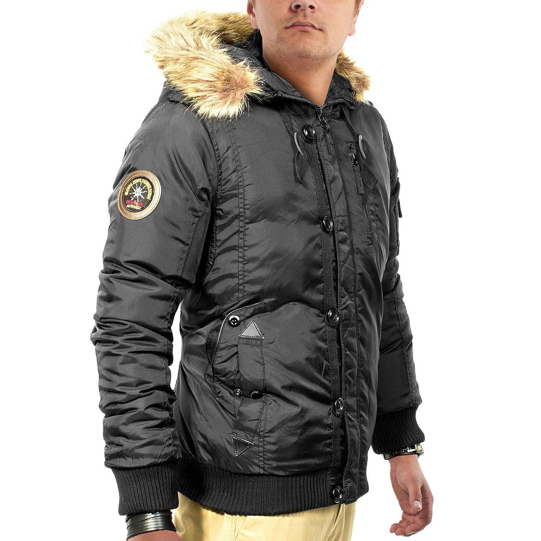 Men's winter jacket with hood lined Matterhorn 2014 ID1143, Gr??e Jacke:L