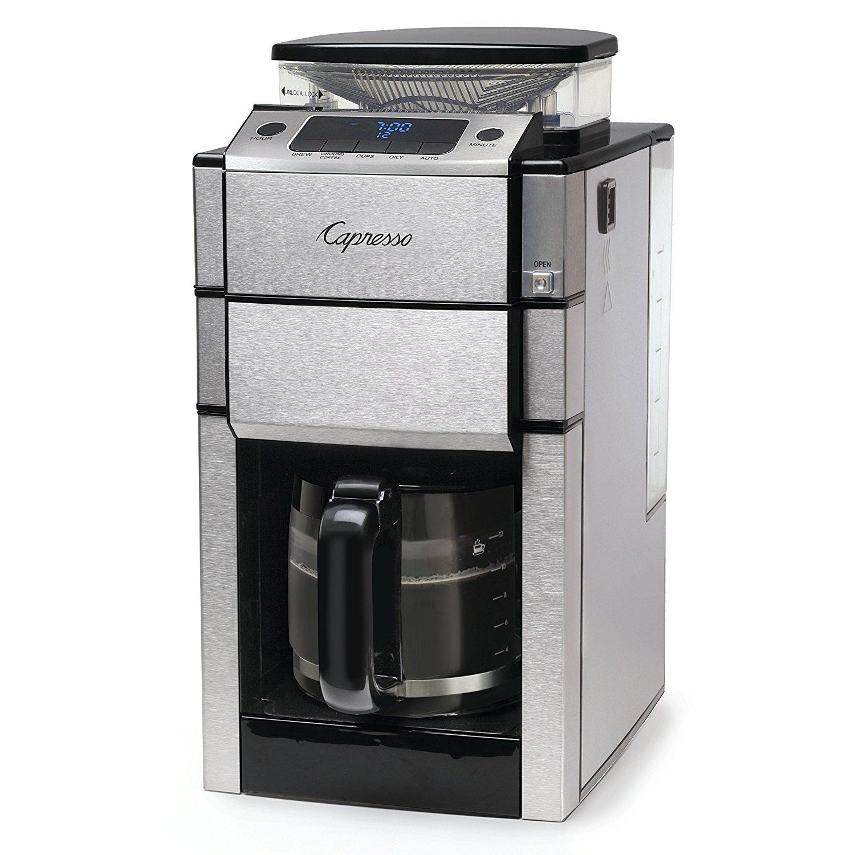 Capresso 487.05 Team Pro Plus Glass Carafe Coffee Maker, Silver