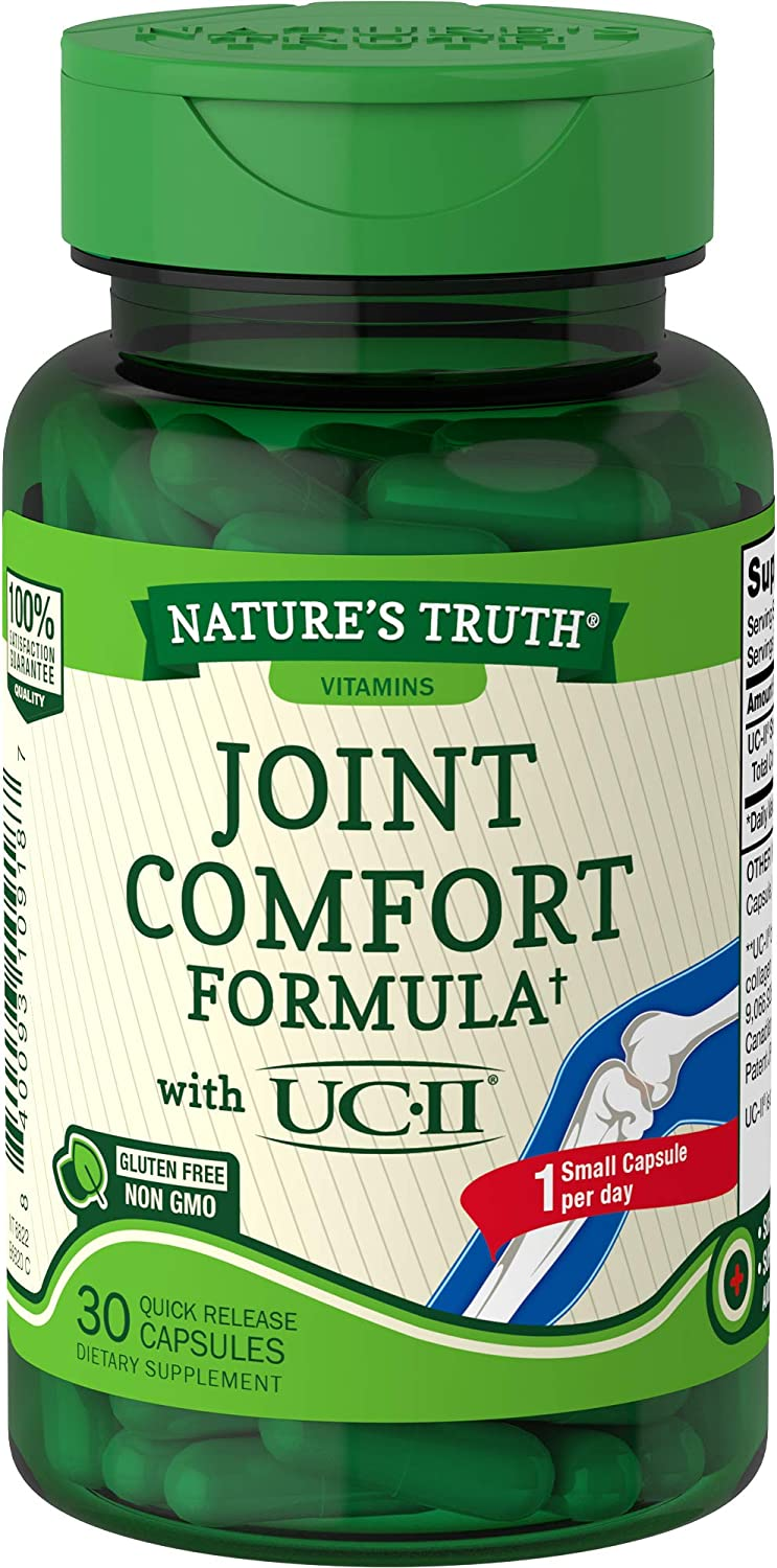 Nature's Truth Joint Supplement 30 Softgels | Joint Care Comfort Formula for Men and Women with UC-II | Non-GMO, Gluten Free