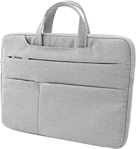 Gloriest 15.6 Inch Laptop Sleeve Case Protective Notebook Handbag Business Briefcase with Trolley Belt Portable Carrying Case Multi-Function Ultrabook Computer Cover Bag for Men Women (Gray