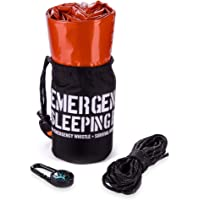 Emergency Sleeping Bag – Reflective Bivy Sack – Mylar Thermal Survival Bag – Includes Whistle, Compass and Survival Hook