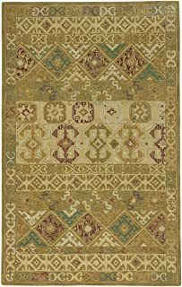 "product image for Capel Smyrna-Afghan Gold 2' 6"" x 8' 6"" Runner Hand Tufted Rug"