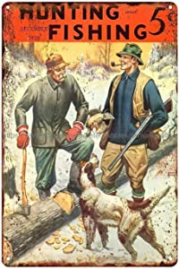 Pozino Gamer Signs for Boys Room Hunting and Fishing 1938 Grouse Hunting Metal Tin Sign Wall Restaurant Pub Sale Gamer Wall Decor Metal 8x12 inch