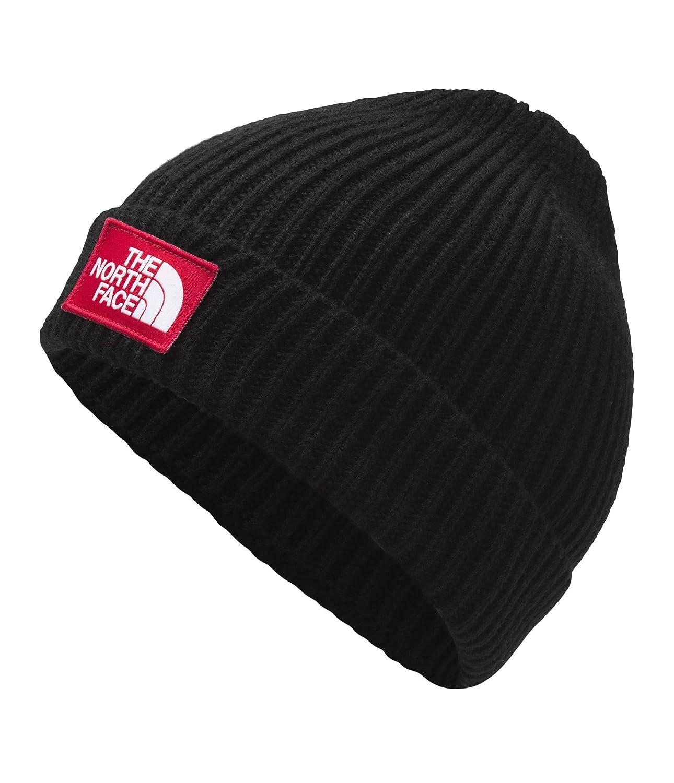 db18fe8c1 The North Face TNF Logo Box Cuffed Beanie, TNF Black/TNF Red, Size OS Short