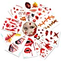 10-Pack Geekper Halloween Makeup Party Bloody Scar Tattoo