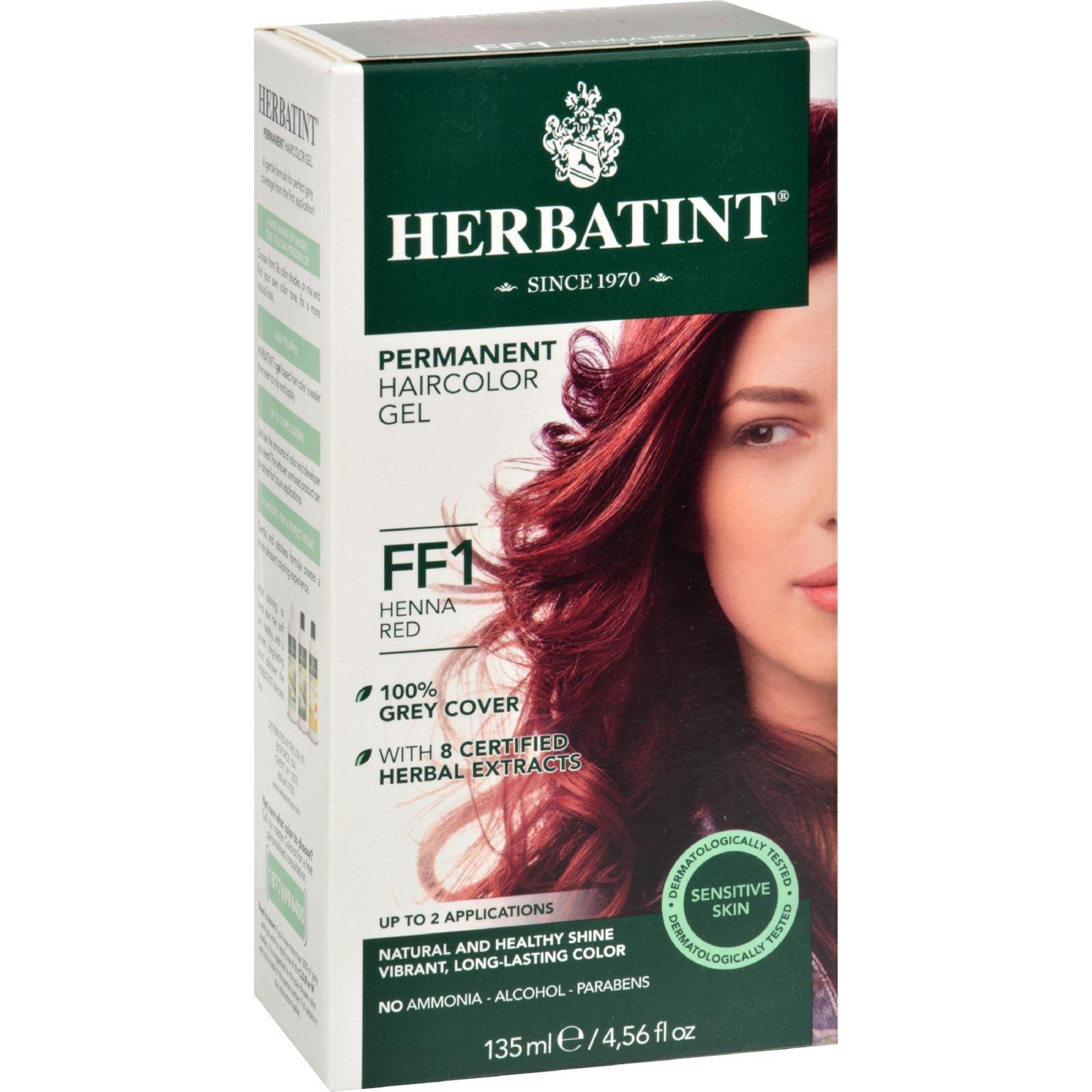 Herbatint Haircolor Kit Flash Fashion Henna Red FF1 - Permanent HairColor Gel - No Ammonia - 1 Kit (Pack of 4) by Herbatint (Image #1)