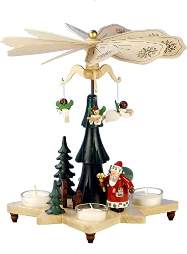 Alexander Taron Importer 33-303 Christian Ulbricht Pyramid-Santa with Angels-10.5 H W x 10 D, Brown