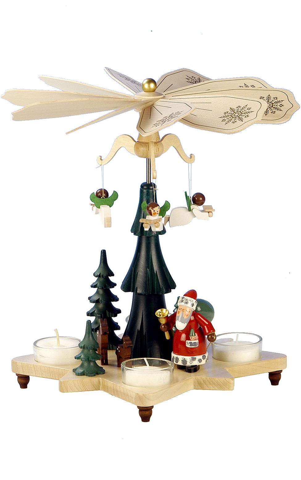 33-303 - Christian Ulbricht Pyramid - Santa with Angels - 10.5''''H x 10''''W x 10''''D