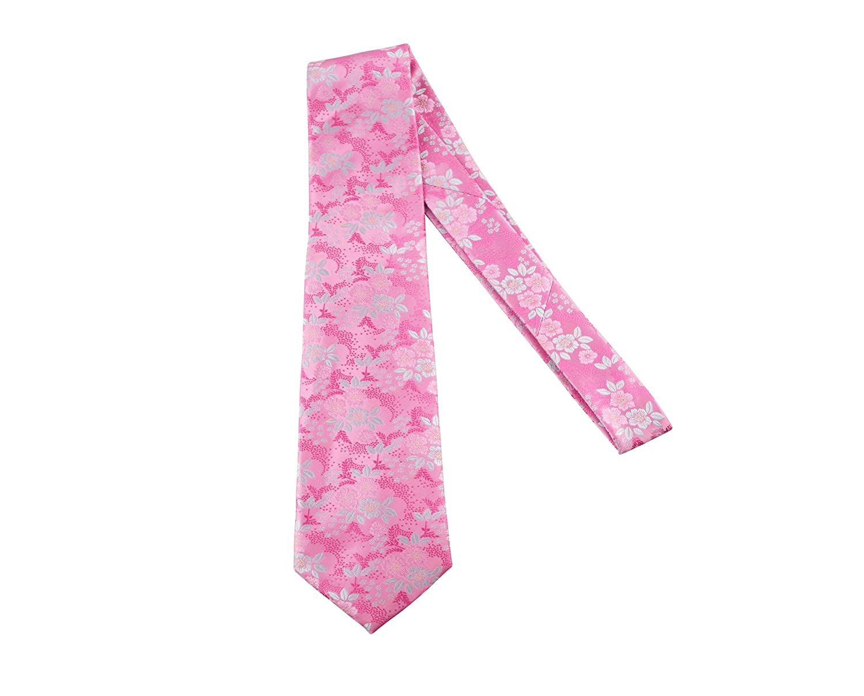 Para hombre rosa y plateado Rose Floral Paisley corbata – Italiano ...
