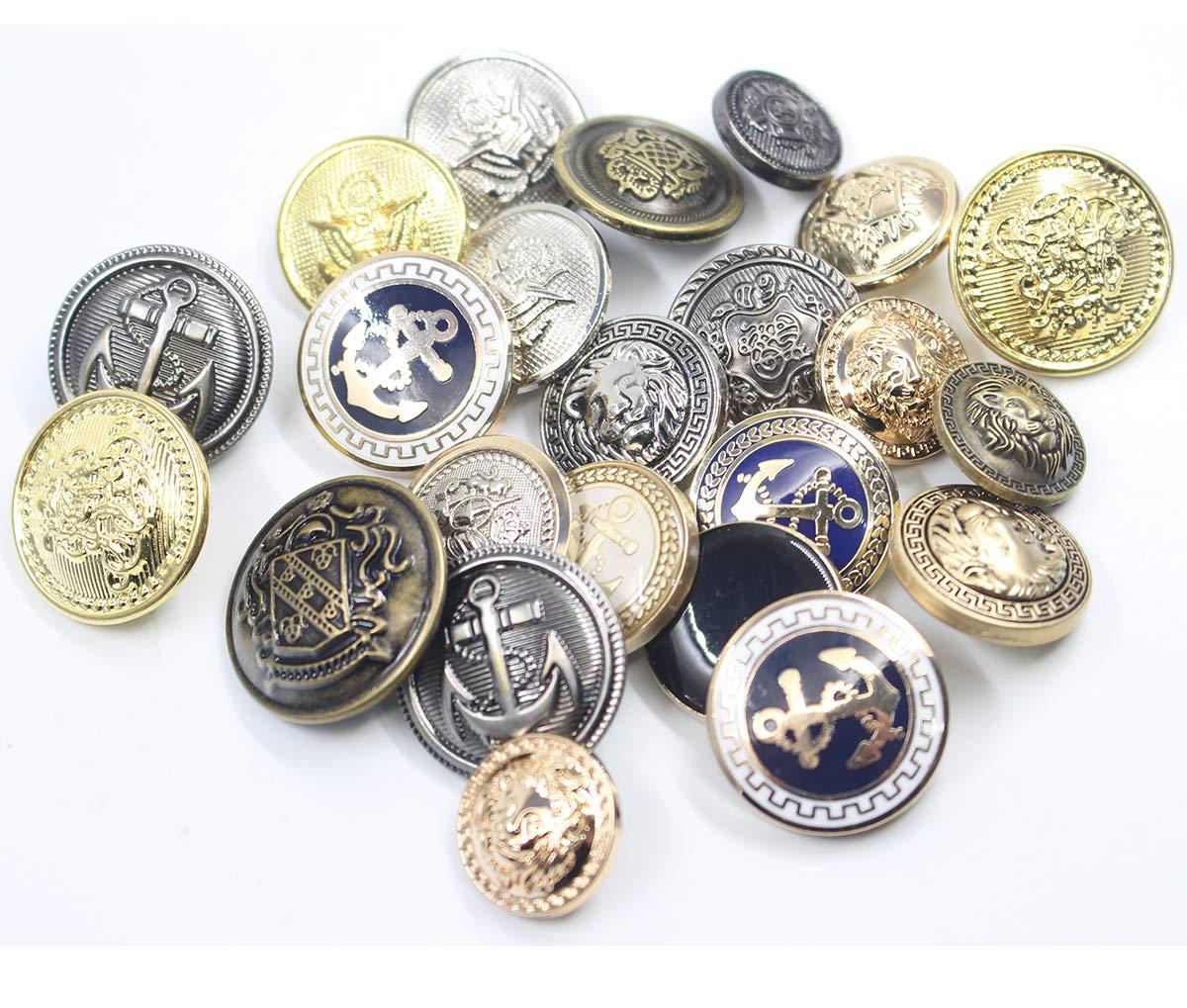 Jacket Sport Coat Eagle Badge 11 Pieces Metal Blazer Button Set Suits Uniform Gold For Blazer