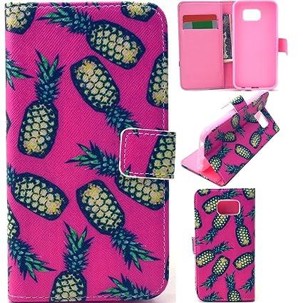 Amazon.com: Samsung Galaxy S6 Edge Plus Wallet Leather Case ...