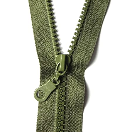 Grey,Light Grey FAST DISPATCH 18 cm to 10 cm Closed ended chunky zip Khaki